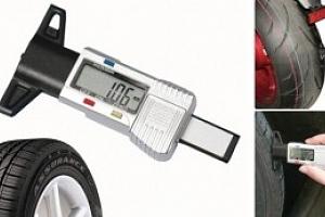Digitální měrič hloubky dezénu pneumatik...