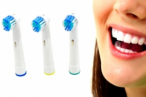 Univerzální náhradní hlavice kompatibilní s elektrickými kartáčky Oral-B Precision Clean....