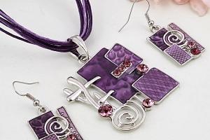 Sada šperků - geometrický tvar a poštovné ZDARMA!...