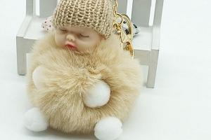 Chlupatá klíčenka - Spící miminko - 10 barev a poštovné ZDARMA!...