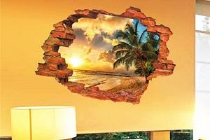 3D samolepka na zeď s imitací výhledu do přírody a poštovné ZDARMA s dodáním do 2 dnů!...