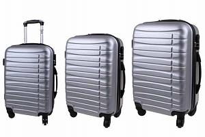 Sada 3 pevných skořepinových kufrů všech velikostí ve 2 barvách...