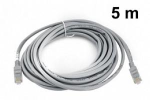 LAN síťový kabel RJ45-RJ45, 5m, šedá...