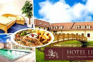 Letní wellness pobyt v Hotelu Lions Nesuchyně pro dva. Polopenze, vstup do bazénu, vířivka, sauna....