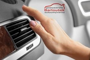 Čištění a plnění klimatizace vozu + dezinfekce kabiny ozonem...