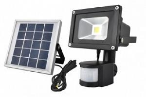 ISO, LS5357 Zahradní solární LED reflektor + detektor pohybu, černý...