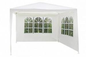Zahradní párty stan 3 x 3m + 2 boční stěny bílý HQ 3212...