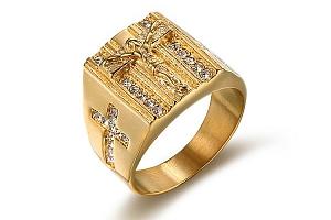 Prsten s křížkem pro pány - 2 barvy a poštovné ZDARMA!...