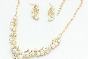 Set romantických šperků s perličkami a poštovné ZDARMA!...