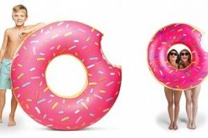 Obří nafukovací Donut 100 cm, růžová...