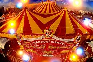 Lístek do Národního Cirkusu Originál Berousek v Olomouci...