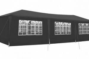 Malatec, Zahradní párty stan 3 x 9 m + 8 bočních stěn, šedý P5122...