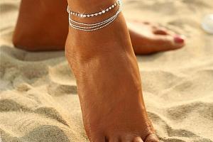 Náramek na nohu s drobnými kamínky a poštovné ZDARMA!...