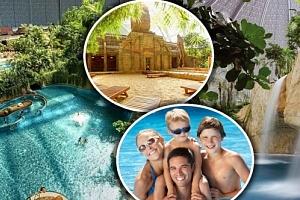 Aquapark Tropical Islands u Berlína - výlet pro 1 osobu. Zařádíte si ve vlnách, na tobogánech....