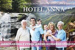 3-4 dny jarní turistiky v Krkonošském Harrachově se snídaní v hotelu Anna*** s 20% slevou na…...