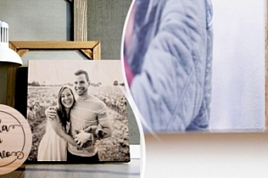 Fotoobraz z vlastních fotek na březovém dřevě, 6 rozměrů...