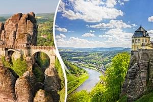 Saské Švýcarsko: stolové hory, skalní města a relax pro 1 osobu...