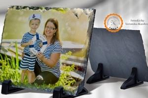 Krásný štípaný kámen s vaší fotografií, 15 × 20/20 × 15 cm...