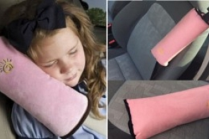 Polštářek na pás do auta, růžová...