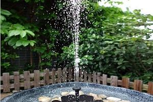 Zahradní fontána na solární energii a poštovné ZDARMA!...