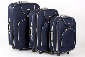 Sada 3 cestovních kufrů na kolečkách se zámkem a výsuvným madlem...