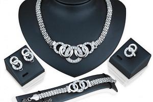Sada šperků s kroužky a kamínky a poštovné ZDARMA!...