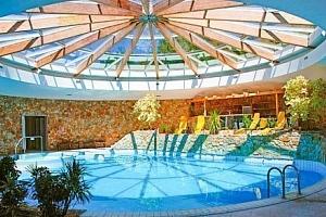 Dudince v Hotelu Flóra s polopenzí, vstupem do bazénů i vířivky a masáží zad...