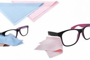 Hadřík na brýle z mikrovlákna 14 x 14 cm, růžový, 2576...