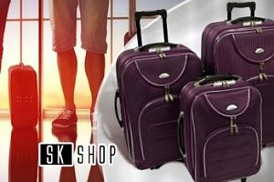 Sada 3 cestovních kufrů na kolečkách, na výběr z 5 barev...