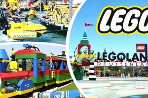 Jednodenní zájezd do Legolandu pro 1 osobu, jízda na vlnách, Lego City, autoškola, Duplo Express....