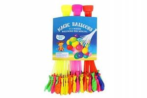 3 sady se 37 samoplnícími barevnými vodními balónky s redukcí na kohoutek...