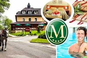 Romantický pobyt v Golf hotelu Morris****, polopenze, vstup do wellness, procedura dle výběru....