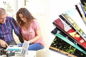 Exkluzivní čtvercová šitá fotokniha velká nebo malá. Knihy dokáží hovořit mnoha jazyky....