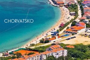 Letní Chorvatsko, ostrov Pag na týden s plnou penzí u pláže...