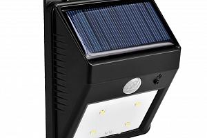 Venkovní LED svítilna se solárním panelem a senzorem pohybu...
