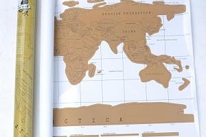 Mapa světa-stírací...