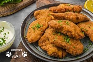 1kg kuřecí řízky + příloha pro 2 až 4 osoby na Žižkově...