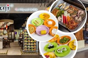 Kupon na slevu na Running Sushi v restauraci Fuji. Sushi, saláty, ovoce, dezerty aj....