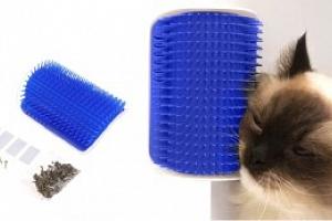 Masážní kartáč pro kočky, modrá...