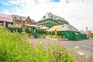 Krušné hory u ski areálu v Hotelu Zelený Dům *** s polopenzí a odpolední kávou...