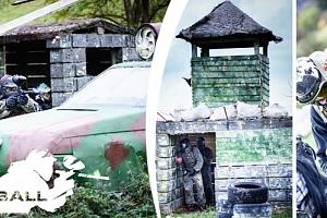 Paintball Masečín. 4 hodiny paintballu na 5 outdoorových hřištích včetně zapůjčení vybavení a munice...