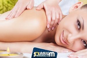 Luxusní masáž krční páteře, zad a chodidel, olej dle výběru...