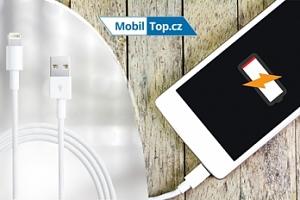 Apple kabel s USB konektorem nebo adaptér do zásuvky...