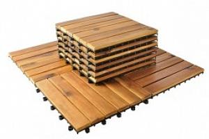 Dřevěné dlaždice 30 x 30 cm 10 kusů, P5100...