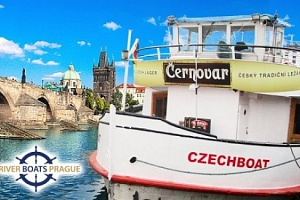 1 nebo 2hodinová vyhlídková plavba Prahou po Vltavě s možností rautu a hudby pro 1 osobu...