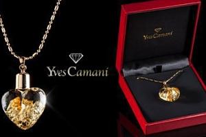 Náhrdelník srdce Yves Camani s plátky stříbra či zlata vč. pošty...