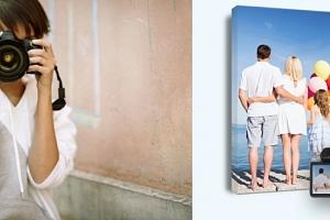 Fotoplátno na dřevěném rámu z Vašich fotografií. Originální dekorace, na výběr z více rozměrů....