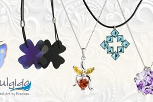 Náhrdelník Fairy heart z rhodiovaného stříbra, včetně pošty...