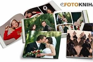 Originální fotokniha ve formátu A4 v pevné vazbě se 40, 60 či 80 stranami...