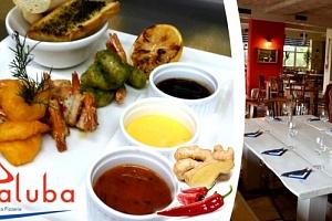 Tygří krevety připravované na 4 různé způsoby v krásné restauraci La Paluba v Kolovratech....